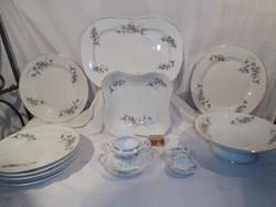 Porcelán -12 db -  antik - ALBIN DENK - OSZTRÁK - 12 db 3 óriás pecsenyéstál..... stb.