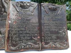 Német Gyanta viasz könyv régi tárgy licitre