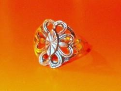 Szív szirmos mint. Tibeti ezüst Régi gyűrű 8-as