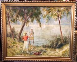 Guzsik Ödön - Festő a Balaton partján