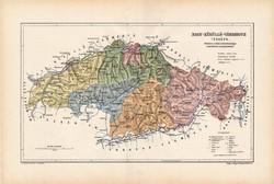 Nagy - Küküllő vármegye térkép 1904, megye, Nagy - Magyarország, eredeti, Kogutowicz Manó, atlasz