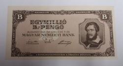 1 000 000 b.-pengő 1946, hajtatlan aunc.