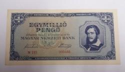 1000000 pengő 1945, hajtatlan aunc, alacsony sorszám!