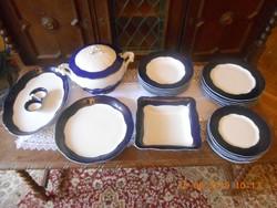 Zsolnay barokk, Pompadour komplett étkészlet 6 személyes, hibátlan