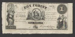 "1 forint 1852. ""D"".  RITKA!!  UNC!!"