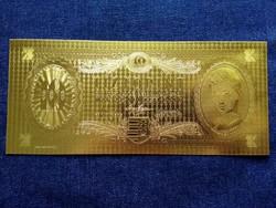 Gyönyörű arany színű plasztik dísz Tíz Forint (id9709)