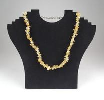 0X273 Fűzött ásvány női féldrágakő nyaklánc nyakék