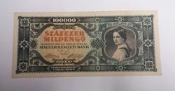 100000 milpengő 1946, hajtatlan aunc.