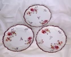 Gyönyörű, szecessziós korú desszertes tányérok