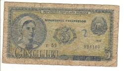 5 lei 1952 Románia 1.