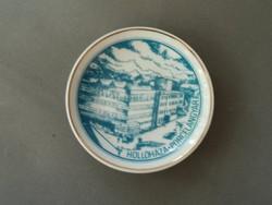 Porcelán dísztányér Hollóháza