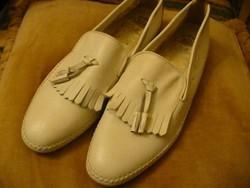 Olasz férfi bézs bőr cipő 42,5-es