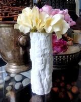 Fehér biszkvit porcelán fatörzs váza