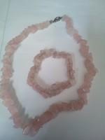 Rózsa kvarc, ásványköves nyaklánc és karkötő!