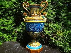Különleges osztrák puttós jugendstil váza