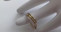 14K arany gyűrű,ragyogó kövekkel (2,8g)