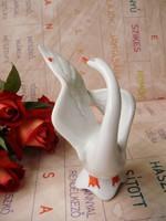 Art deco porcelán hattyú katicabogárral