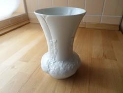 Royal KPM Bavaria fehér porcelán váza 15,5 cm