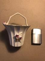 Régi porcelán kosárka
