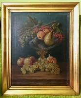 Gyümölcsös Csendélet - XIX. Század; Olajfestmény Vásznon