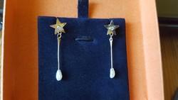 Antik arany füli/brill-gyöngy