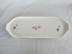 Gránit kerámia rózsás süteményes tál tálca