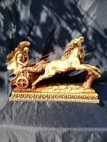 Műgyanta lovas szobor