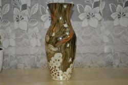 Aranyozott porcelán váza