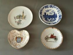 Porcelán dísztányérok 4 db