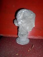 Sakkfigura szobor, 23 cm magas, gipsz, királynő, római arc.  szobadísznek is alkalmas, Zéger Gyula