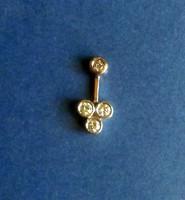 14K. feher arany  Medal Gyemant kovekkel