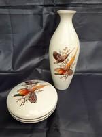 Aquincumi  madaras  váza és bonbonier