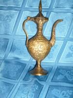 Antik művészi nagy Indiai díszes súlyos karaffa 21 cm-es
