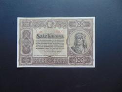 100 korona 1920 A 028 Szép ropogós bankjegy