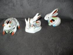 Hollóházi GARDEN festésű nyuszi nyúl
