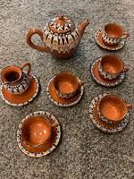 Bolgár népi teáskészlet