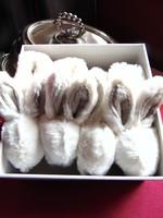 2 pár nyuszis bébi cipő, mamuszka ikreknek