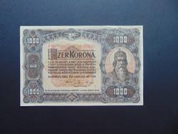 1000 korona 1920 B 03 nagy alakú bankjegy piros színű sorszám !