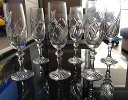 Kristály pezsgős pohárkészlet