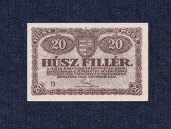 A Magyar Postatakarékpénztár Korna pénztárjegyei 20 fillér bankjegy 1920 Hajtatlan/id 9892/