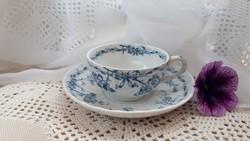 Antik angol gyémántjeles Cauldon teás csésze szett