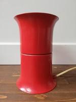 Iparművészeti retrto fém asztali lámpa búra nélkül, tervező: Bujáki