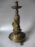 Antik címerpajzsos asztali lámpatest