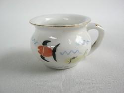 Balatoni emlék Aquincumi porcelán halas mini bögre csupor Balatonszabadi