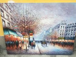 P. Sanchez nagyméretű festmény