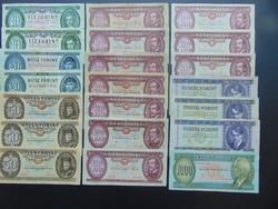 21 darab forint LOT ! Minden bakjegy más évszám