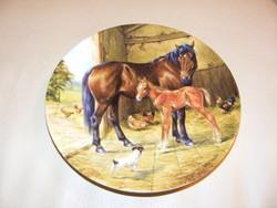 Ló, lovas Bradex jelzett falitányér