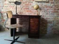 Rolós gyerek íróasztal,vintage íróasztal,loft,dekor