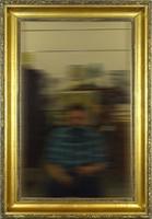 0W805 Antik aranyozott falitükör 83 x 70 cm