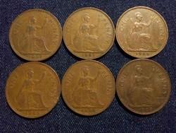 Anglia - Erzsébet királynő One Penny évszám gyűjtemény/id 7764/